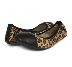 Bailarina flexible puntera leopardo