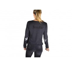 Jersey fino BE A STAR gris oscuro
